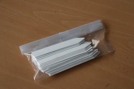 plantlabel, plastic, qty: 25
